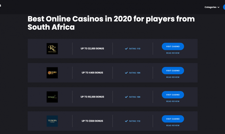 Legit Online Casinos in SA